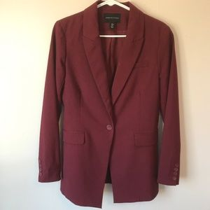 Adrienne Vittadini Red One-Button Blazer--Medium